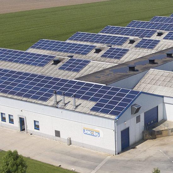 Champignonkwekerij Jacobs is een duurzaam bedrijf met zonnepanelen en een warmtepomp